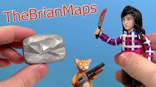 БРАЙН МАПС - ОЛИВИЯ, КОТ ТИГРА И КНОПКА лепим из пластилина | TheBrianMaps